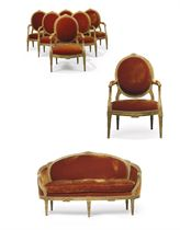A SUITE OF LOUIS XVI GILTWOOD SEAT-FURNITURE