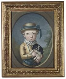 Portrait of a young boy, three