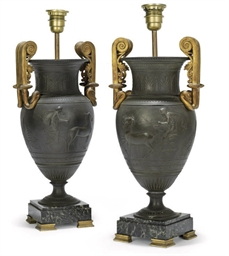 A PAIR OF FRENCH GILT-METAL, P