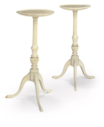 A PAIR OF INDIAN IVORY MINIATU