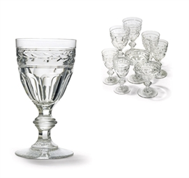 A BACCARAT CUT-GLASS PART TABL