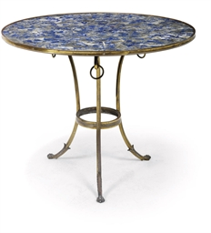 A FRENCH LACQUERED-BRASS AND L