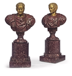 A PAIR OF ITALIAN GILT-BRONZE,