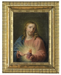Christ holding the Sacred Hear