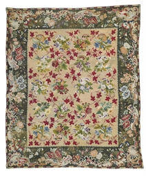 A EUROPEAN NEEDLEWORK RUG