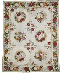 AN ENGLISH NEEDLEPOINT CARPET