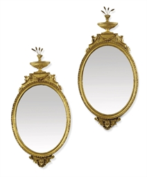 A PAIR OF GEORGE III GILTWOOD