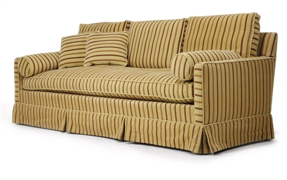 A THREE-SEATER SOFA