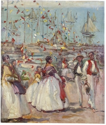 A celebration on the quay