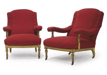 A PAIR OF VICTORIAN GILTWOOD E
