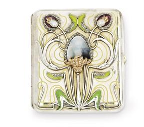 A Russian jewelled silver enam