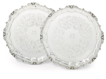 A PAIR OF SPANISH SALVERS