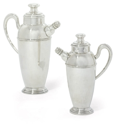 TWO SPANISH COCKTAIL-SHAKERS