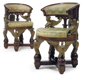 A PAIR OF FRENCH ORMOLU, DARK-