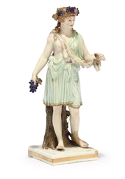 A MEISSEN FIGURE OF A BACCHANT