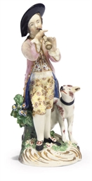 A DERBY FIGURE OF A SHEPHERD