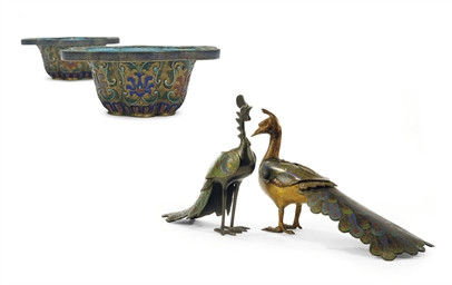 TWO CHINESE CLOISONNE ENAMEL '