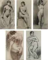 Study of a woman before her bath