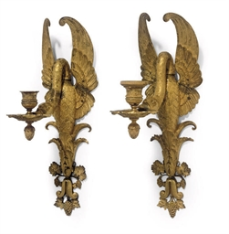 A PAIR OF EMPIRE ORMOLU WALL L