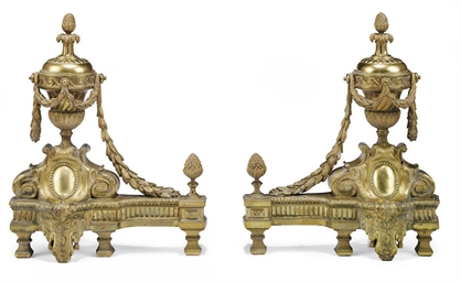 A PAIR OF FRENCH GILT-METAL CH