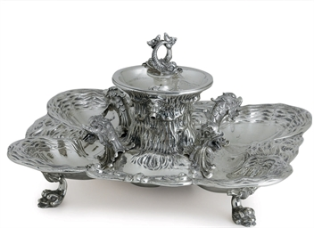AN ITALIAN SILVER FOUNTAIN
