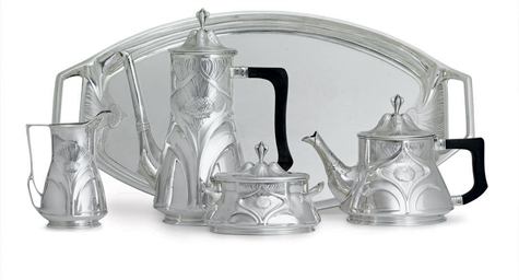 A GERMAN SILVER ART NOUVEAU FO