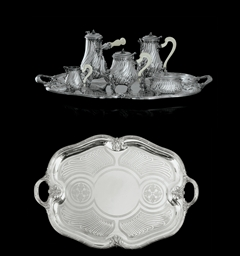 A FRENCH SILVER FIVE-PIECE TEA