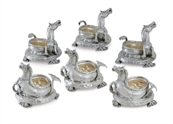 A SET OF SIX ITALIAN SILVER SA