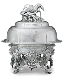 A FRENCH SILVER AND SILVER PLA