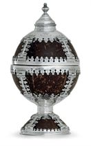 A GEORGE V SILVER-MOUNTED COCONUT CUP