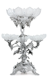 A VICTORIAN SILVER EPERGNE