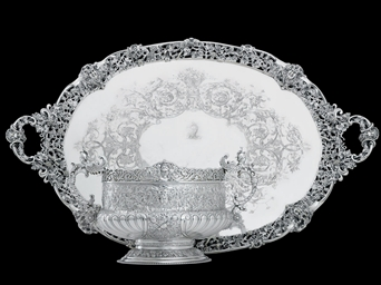 A VICTORIAN SILVER ROSE BOWL