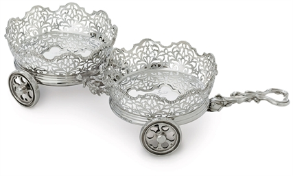 A VICTORIAN SILVER DOUBLE WINE