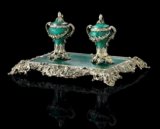 A VICTORIAN SILVER-GILT AND MA