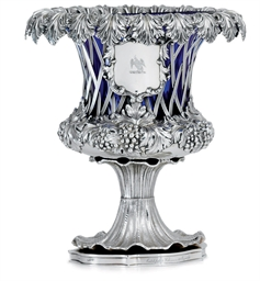 A WILLIAM IV SILVER VASE