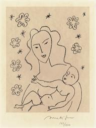 Vierge et Enfant sur Fond de F