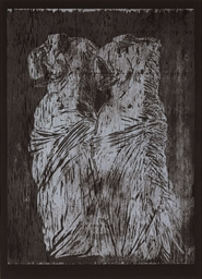 Double Venus Woodcut II (D'Oen