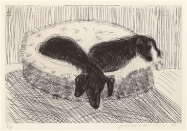 Dog Etching No. 12, from Dog W