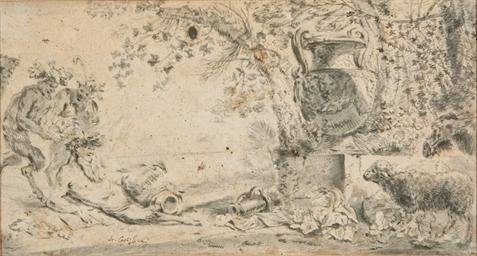 Trois satyres dans un paysage