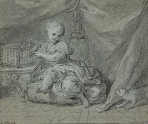 Enfant jouant avec un oiseau d