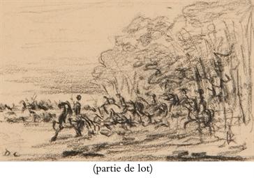 Paysage avec une armée à cheva