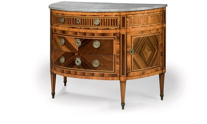 COMMODE DEMI-LUNE D'EPOQUE LOU