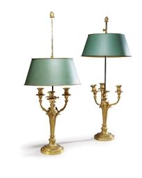 PAIRE DE LAMPES BOUILLOTE DE S