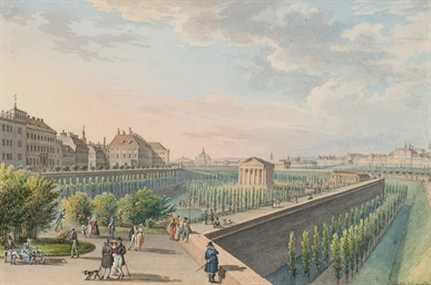 Vue du temple de Thésée dans l
