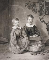 Deux jeunes garçons jouant ave