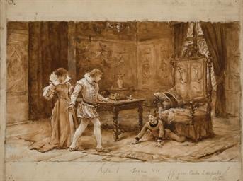 Scène troubadour