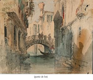 Vue de Venise; Un couple de Ro