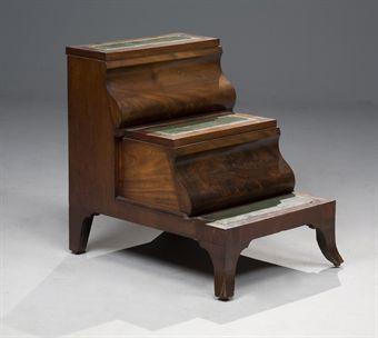 escabeau de bibliotheque de style anglais xxeme siecle. Black Bedroom Furniture Sets. Home Design Ideas