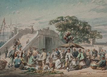 Un marché à Canton