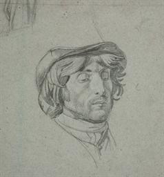 Tête d'homme avec un chapeau
